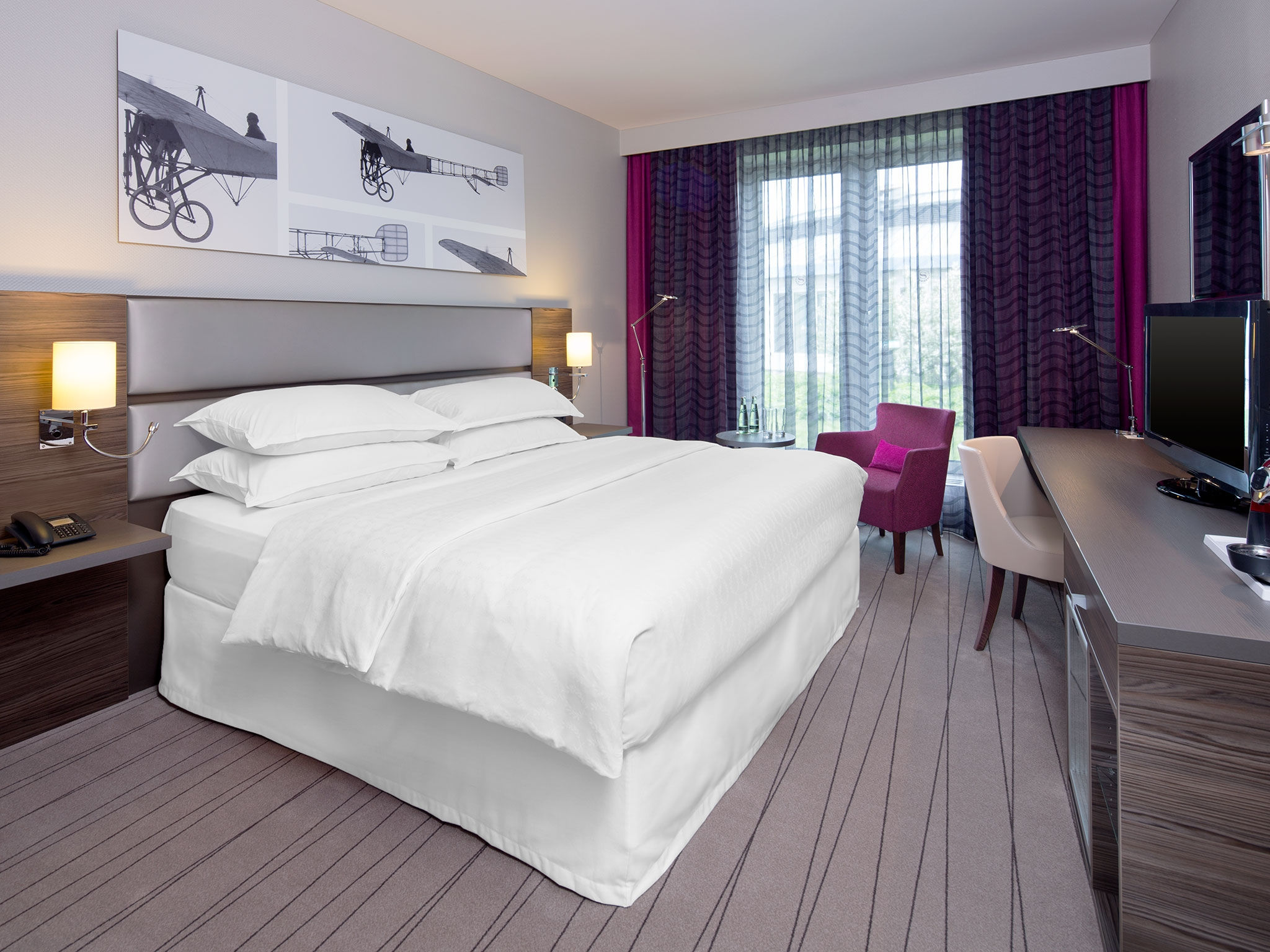 Day use room at Düsseldorf Airport: Sheraton Hotel